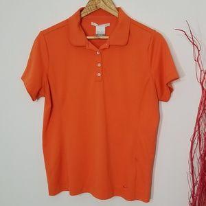Nike Golf |Orange Golf Polo Shirt Size Large